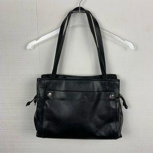Longchamp Bag Black Leather Classic Shoulder Tote